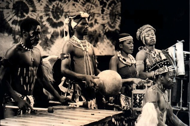South African percussion ensemble Amampondo