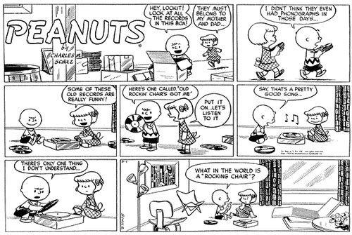 The peanut comic strips fist appearance black men
