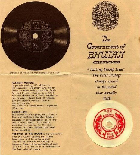 The Curious Tale Of Bhutan S Playable Record Postage Stamps The Vinyl Factory